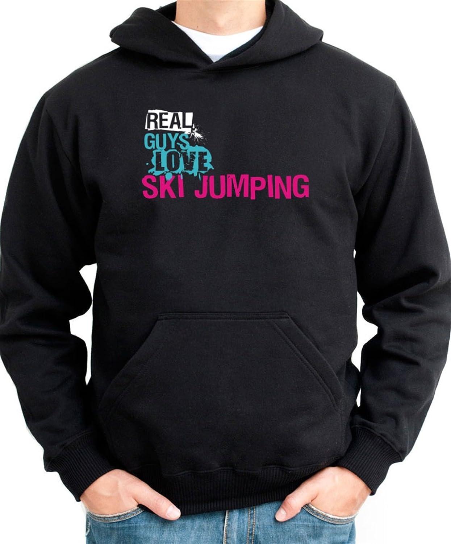 Real guys love Ski Jumping Hoodie