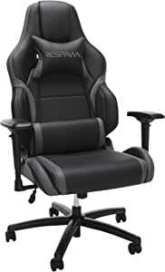 RESPAWN 400 Big and Tall Racing Style Gaming Chair, in Gray (RSP-400-GRY)