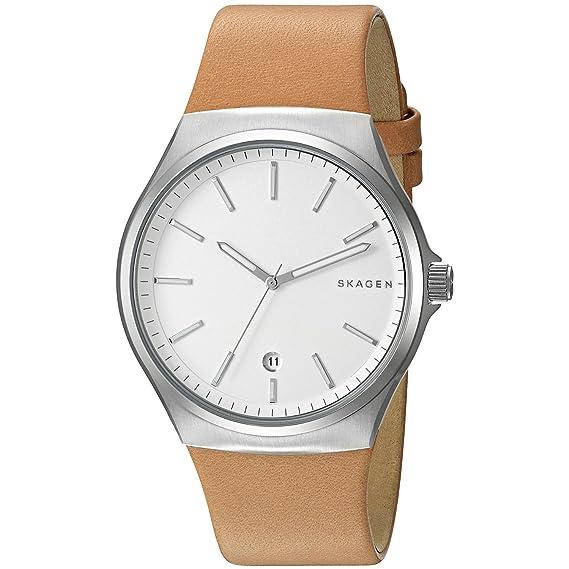 Skagen Reloj analogico para Hombre de Cuarzo con Correa en Piel SKW6261: Amazon.es: Relojes