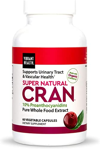 Vibrant Health – Super Natural Cran, Supports Urinary Tract Vascular Health, 60 Count