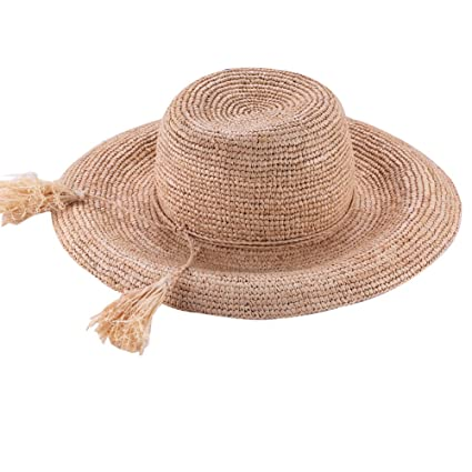 Image Unavailable. Image not available for. Color  Aimsunaw Women s Summer Wide  Brim Raffia Straw Hat ... 2295b436457
