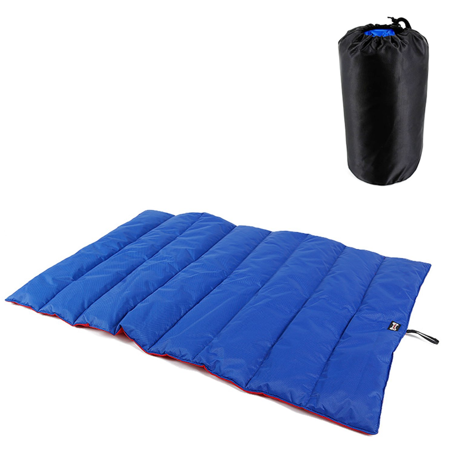 Reversible Two-Tone Outdoor Pets Bed Mat,Portable Water-Resistant Dog Mat Crate Kennel Pad Perfect for Travel, Floors, Car Seats, Lawn (bluee&Red)