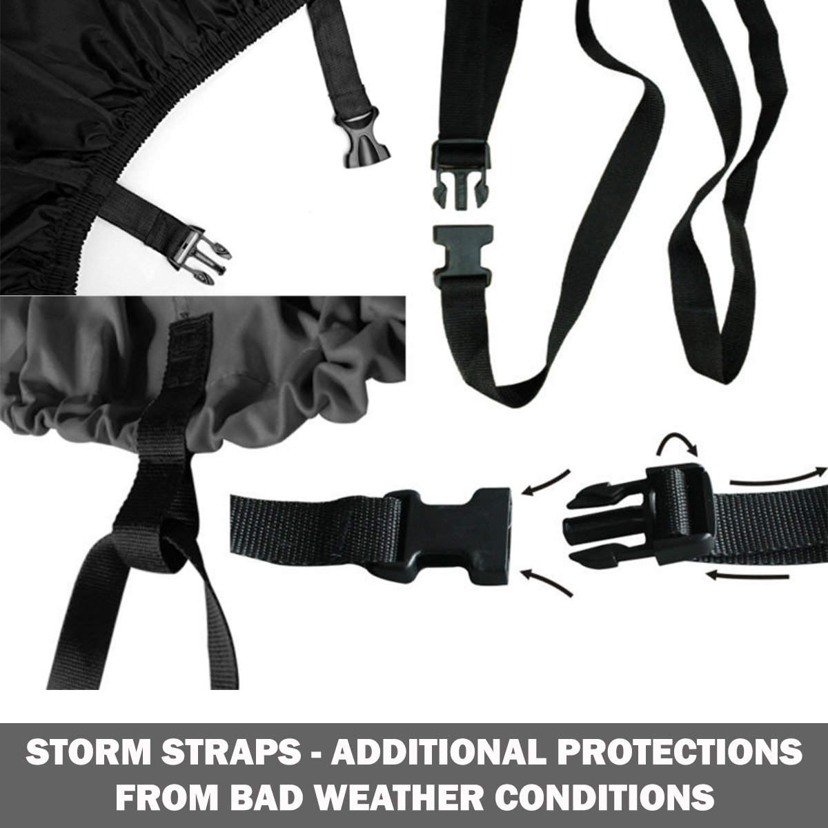 Widras Bicycle and Motorcycle Cover for Outdoor Storage Bike Heavy Duty Rip stop Material, Waterproof & Anti-UV Protection from All Weather Conditions for Mountain & Road Bikes by Widras (Image #6)