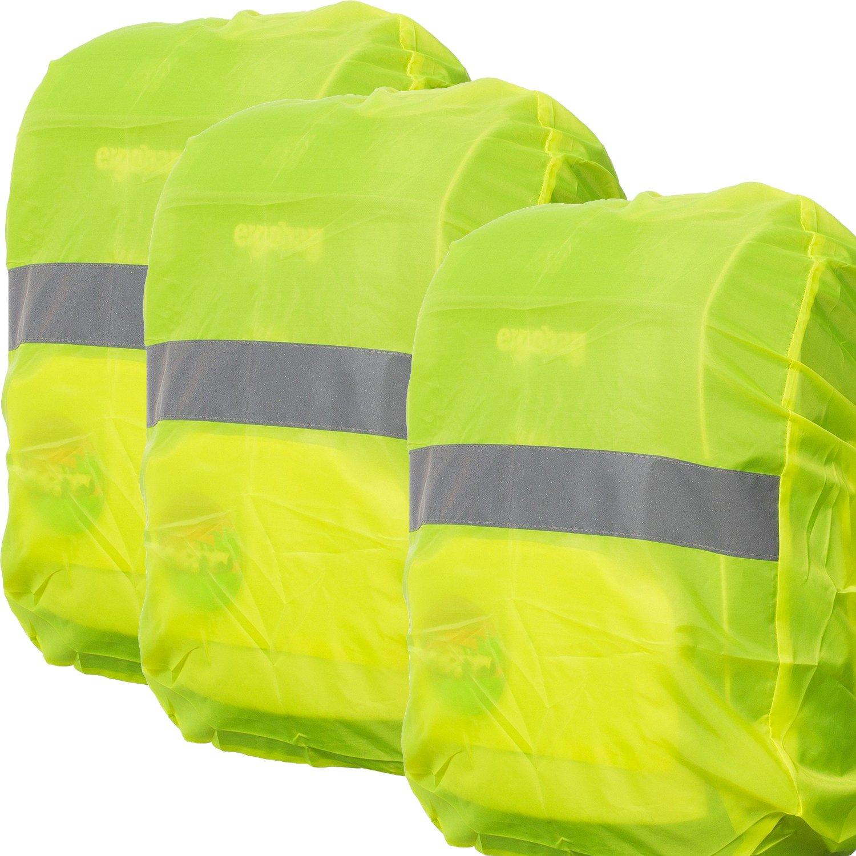 Regenschutz für Rucksäcke | Wasser- und Windabweisend | Reflektorstreifen | Rucksackschutz Ranzen Regenschutz Regencape Rucksackcover Regenüberzug Neon Sicherheitsüberzug Reflektorüberzug| MOVOJA MOV-RucksackSicherheit