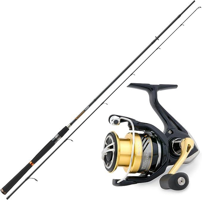 Spinning Pesca Pesca Set Combo – Tacos de caña de pescar & Shimano carrete Set: Amazon.es: Deportes y aire libre