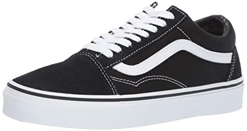 Popular Vans Old Skool Noir Noir Toile Lacer Skate