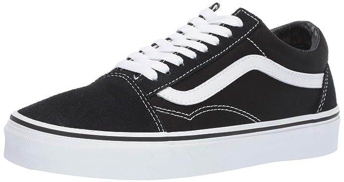 Vans Old Skool Sneakers Suede/Canvas Damen Herren Unisex Schwarz/Weiß Größe EU 39