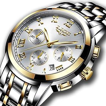 Amazon Com Watches Mens Full Steel Quartz Analog Wrist Watch Men