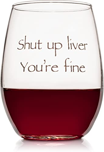 Wine LOLZ Funny Stemless Wine Glass