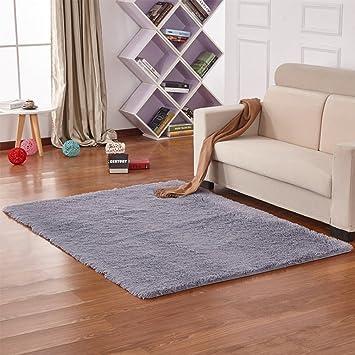 kanggest alfombras para saln modernas dormitorio antideslizante alfombra 5080cm gris - Alfombras Salon