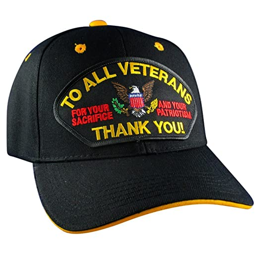 aa2500e79a0 Amazon.com  AffinityAddOns To All Veterans - Thank You Hat ...
