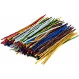 Edukit Jumbo Pack Of 300 Pipe Cleaners– 15 Assorted Holiday, Sparkly, Glitter, Tinsel Colours – 300x6mm