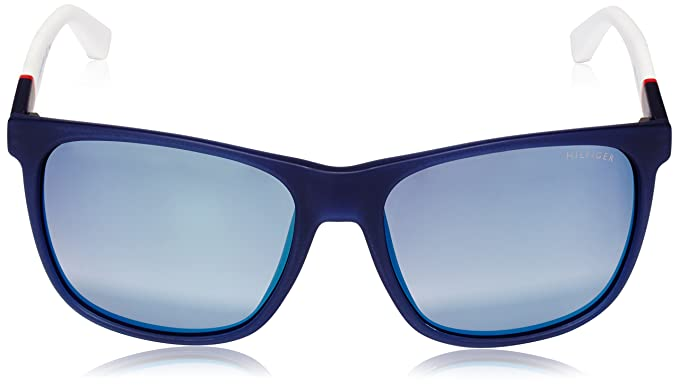 3774fe437be6 Amazon.com  Tommy Hilfiger 1281 S FMC Blue Red White TH1281 S Square  Sunglasses Lens Ca  Tommy Hilfiger  Clothing