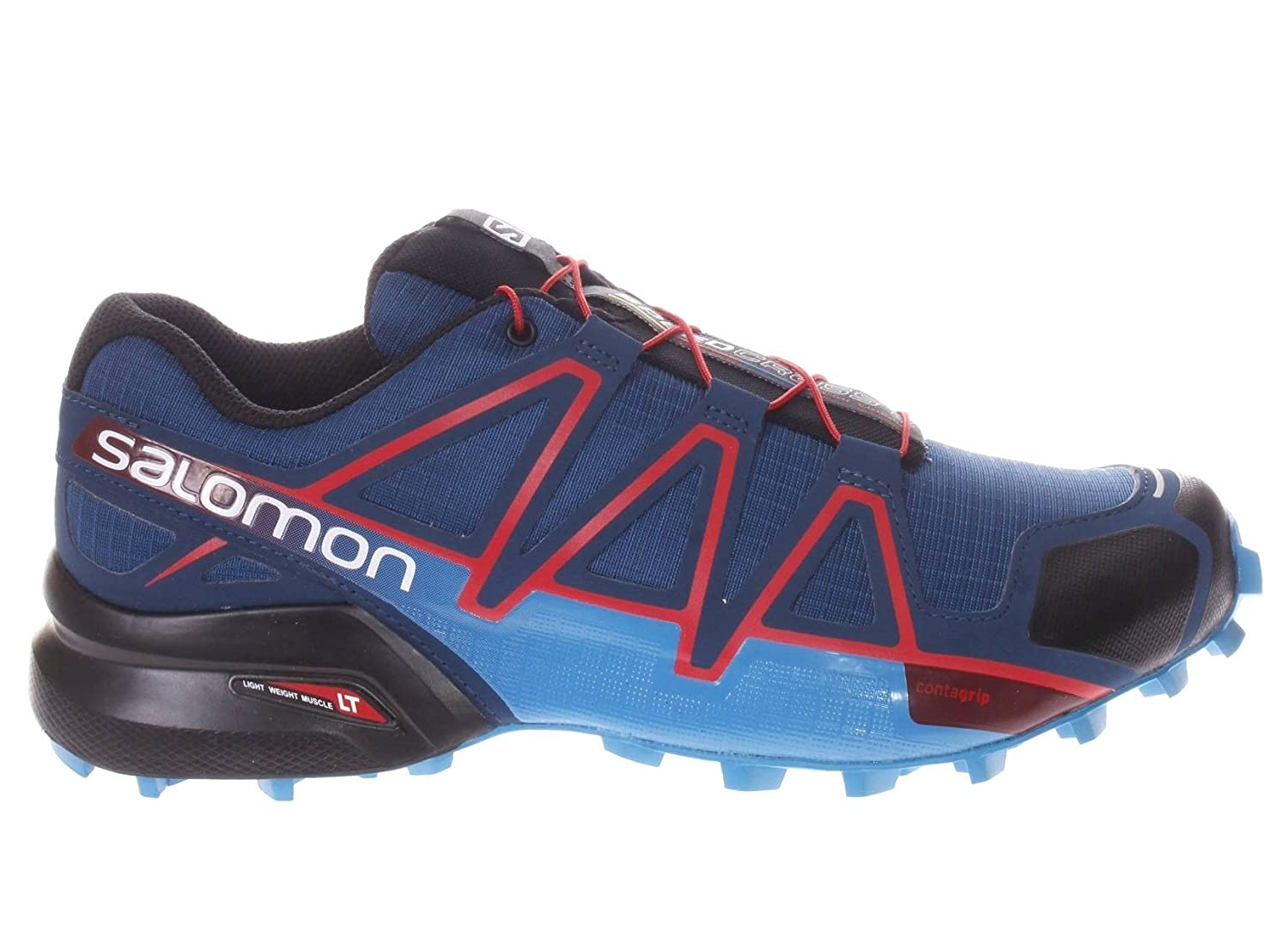 Salomon Herren Speedcross 4 Traillaufschuhe  75|POSEIDON/HAWAIIAN SURF/FIERY RED