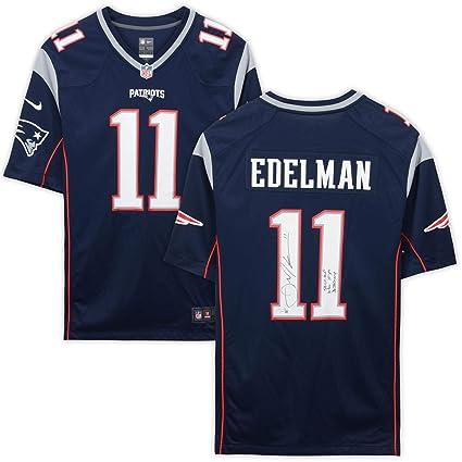brand new 4d8d4 f307d Julian Edelman New England Patriots Autographed Navy Nike ...