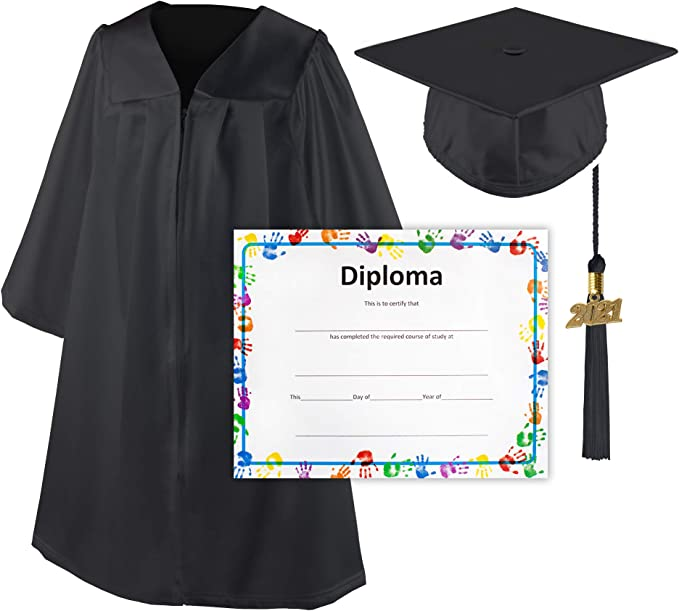 Class Act Graduation Kindergarten Preschool Black Blue and Gold Graduation Tassel Year 2019 with Gold Charm