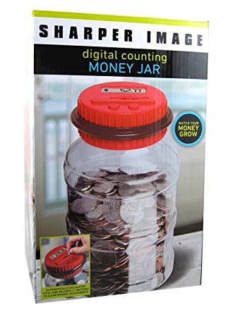Amazon.com : The Sharper Image Electronic Digital Coin Counting ...