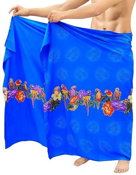 1ede492620 LA LEELA Soft Light Printed Casual Swimwear Wrap Mens 72