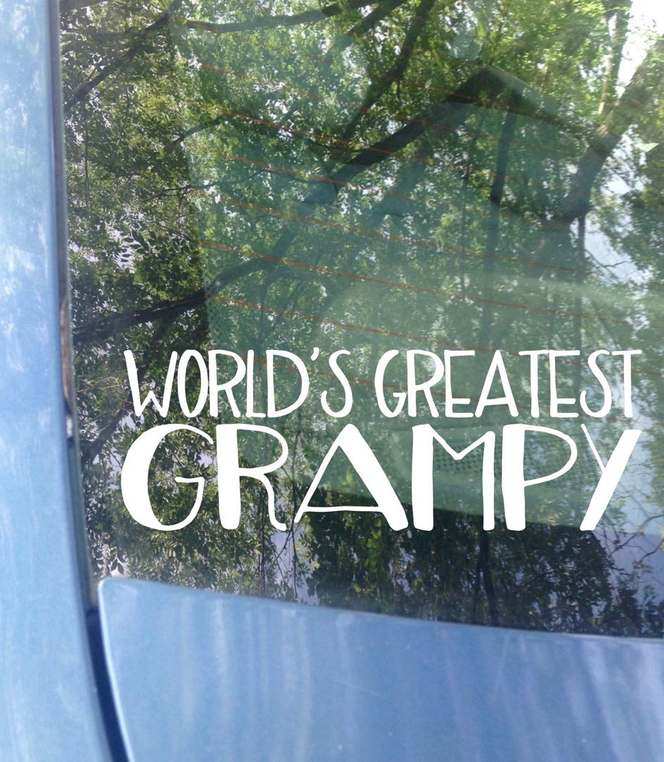 Worlds Greatest Grampy Car Decal 6 inches x 2 inches