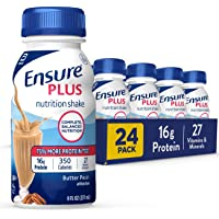 Ensure Plus Nutrition Shake With 16g of High-quality Protein, Meal Replacement Shakes, Butter Pecan, 8 Fl Oz (Pack of 24…