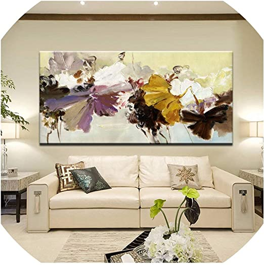 Abstract Flower Hands Canvas Wall Painting Picture Poster Art  Home Decor