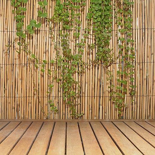 FOREVER BAMBOO - Valla de bambú (Natural, 1, 82 m de Alto x 4, 87 ...