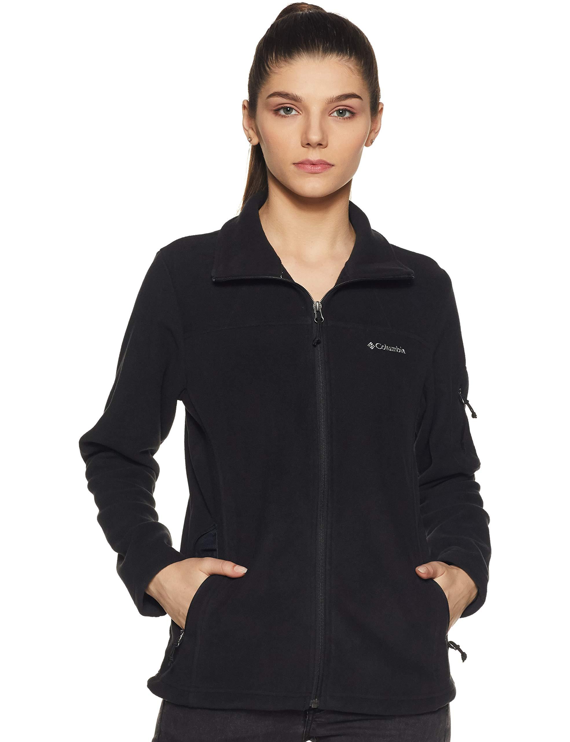 Columbia Women's Fast Trek II Full Zip Soft Fleece Jacket, Black, Large by Columbia