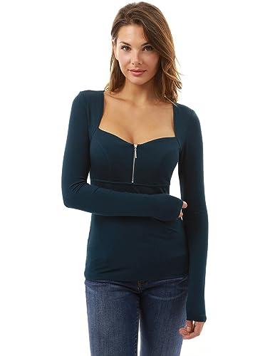 PattyBoutik Mujer plaza postal cuello imperio cintura frontal blusa