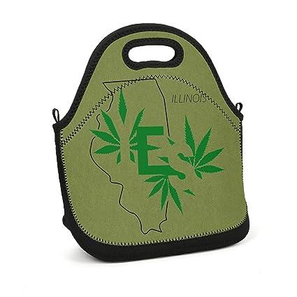 01a4b42cc81c Amazon.com - SJFJRI Marijuana Leaf yes Illinois Legalized State ...