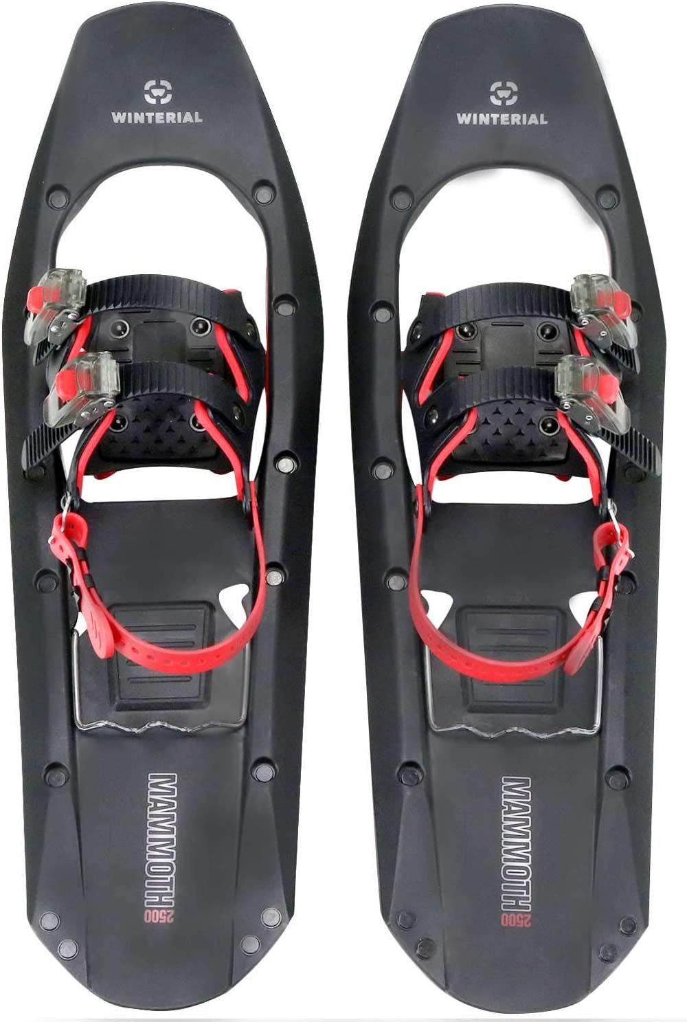 Winterial Mammoth Snowshoes 25 Inch Lightweight Polymer Square Toed Mountain Terrain Snow Shoes for Advanced Users