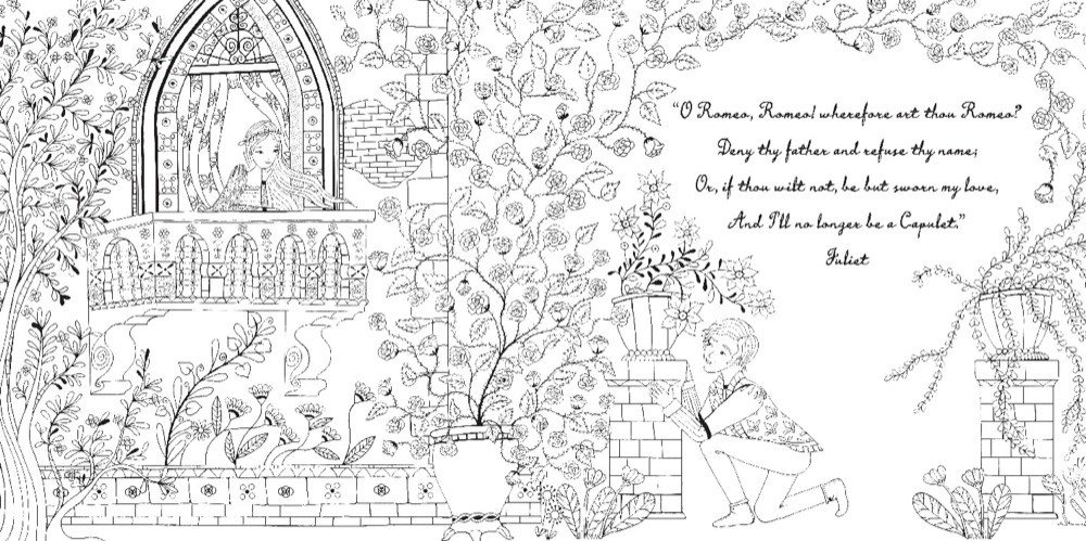 Romeo And Juliet A Coloring Classic Amazon Co Uk William Free Romeo And Juliet Coloring Pages