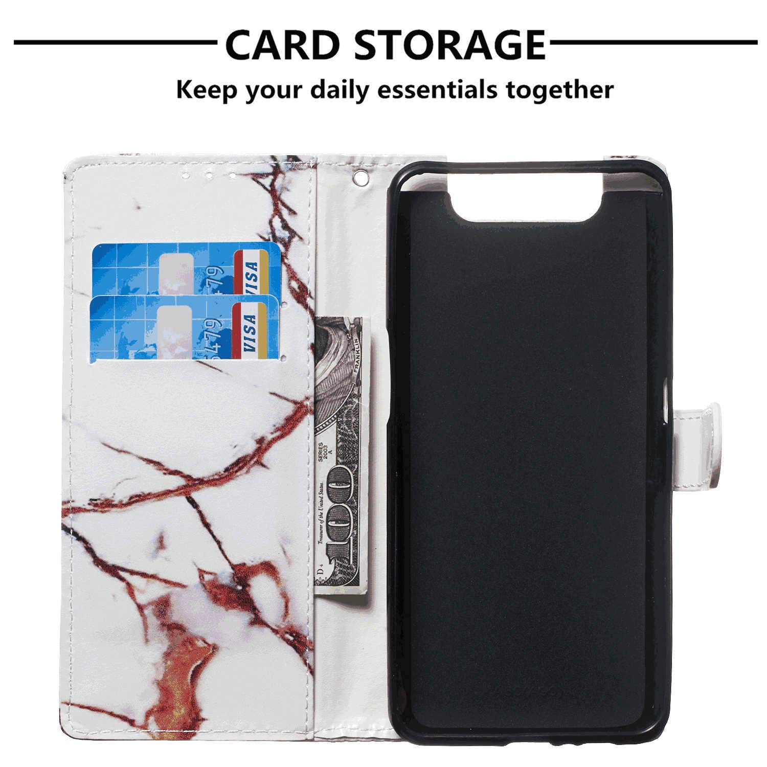 iPhone Xs Flip Case Cover for iPhone Xs Leather Kickstand Mobile Phone case Card Holders Premium Business with Free Waterproof-Bag Delicate