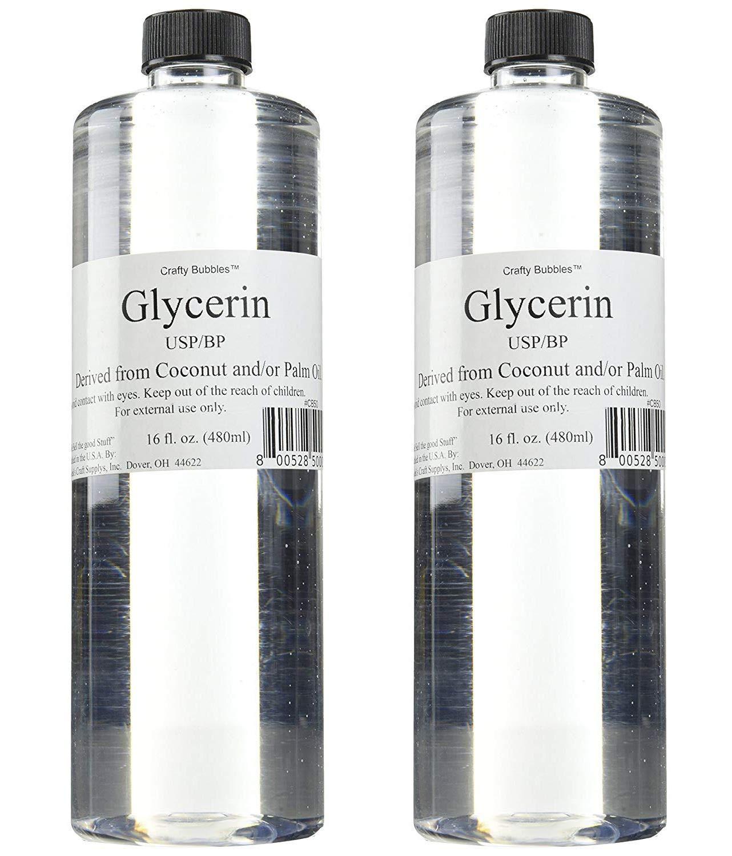 Bolek's Crafty Bubbles Liquid Glycerin, 16 oz (Тwo Рack)
