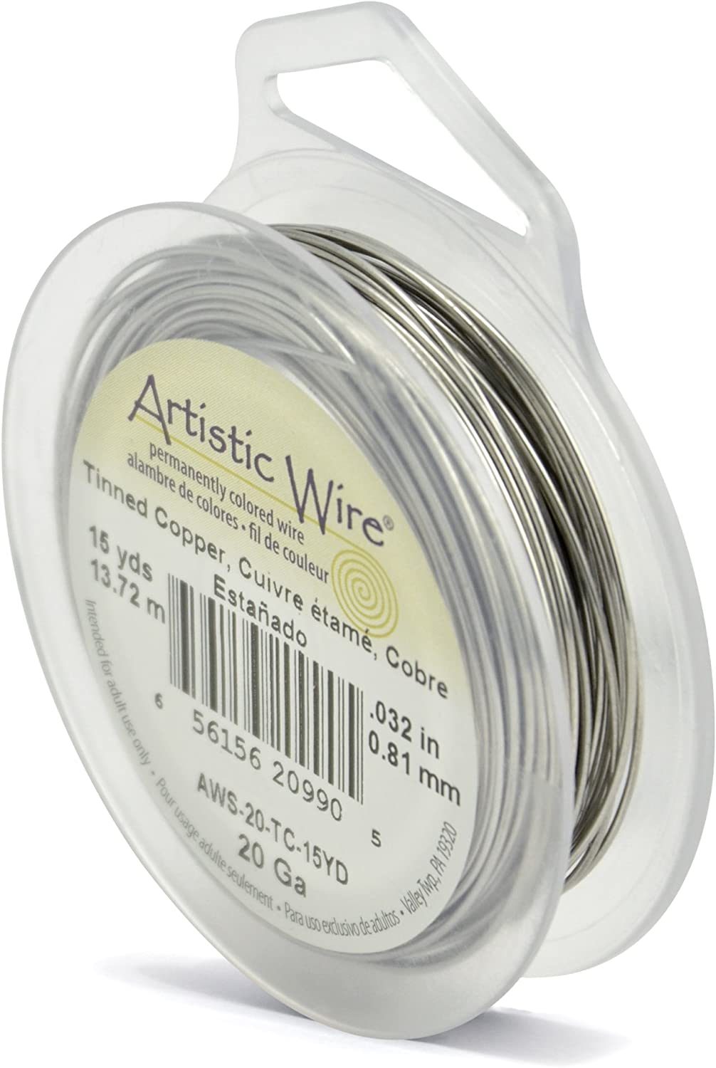 22 Gauge Tinned Copper Artistic Wire Spool 15 Yards Jewelry Making Tool