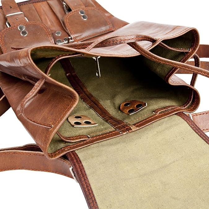 Original Vintage Leder Rucksack Daypack City Shopping Bag Campus 81Stgeneration utE6b