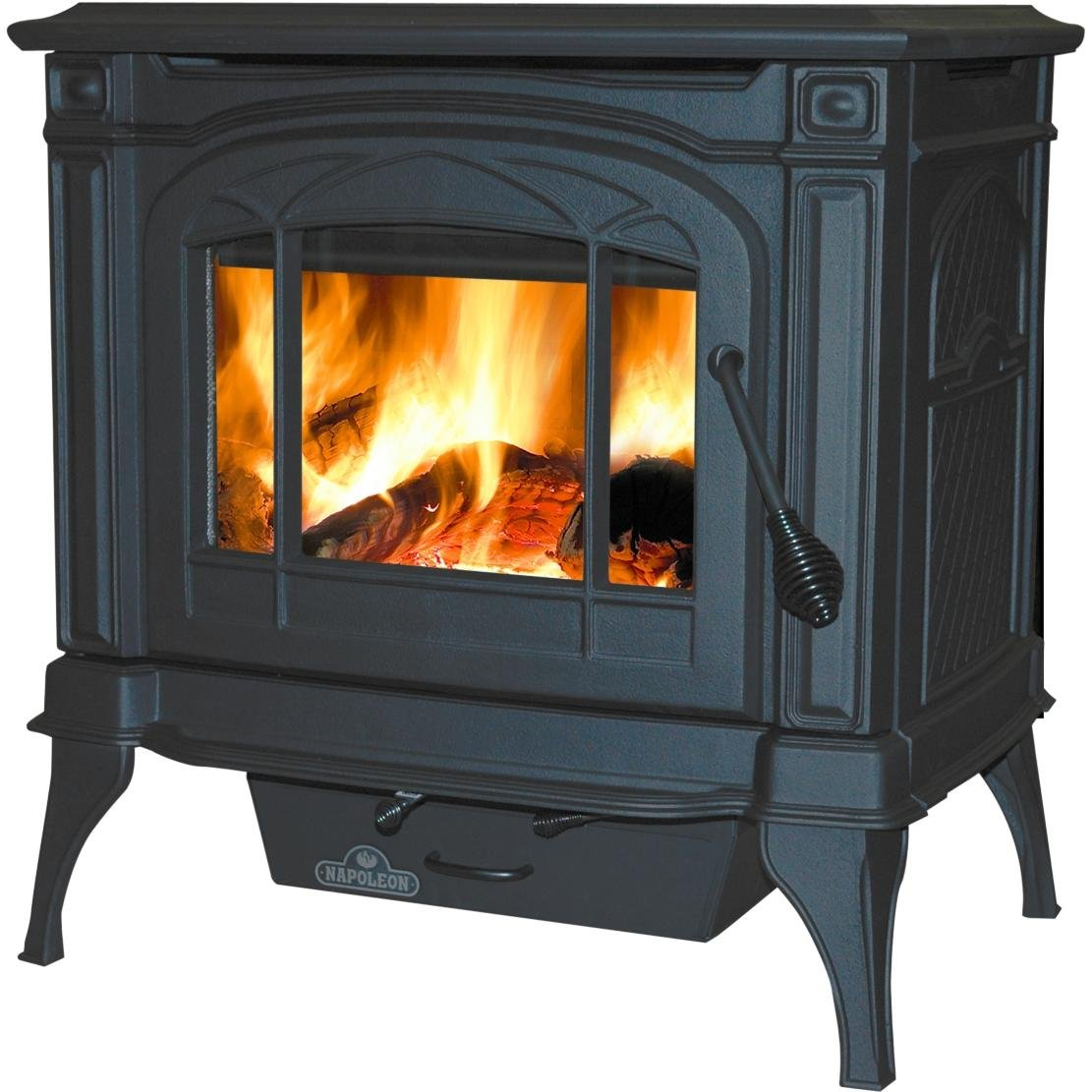 amazon com napoleon 1100c wood burning stove black kitchen