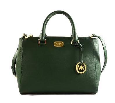 a3751e4decbefd Amazon.com: Michael Michael Kors Kellen Satchel Shoulder Handbag Moss: Shoes