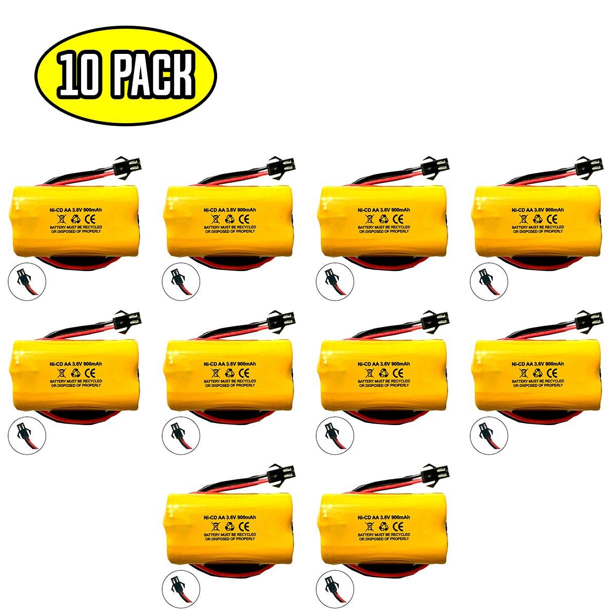 (10 pack) Exit Sign Emergency Light NiCad Battery 3.6v 900mAh Replacement Lithonia ELB B001 ELBB001 ELB-B001 Unitech AA900MAH Lithonia EU2 LED Interstate ANIC1566 Unitech 0253799 Battery Hawk
