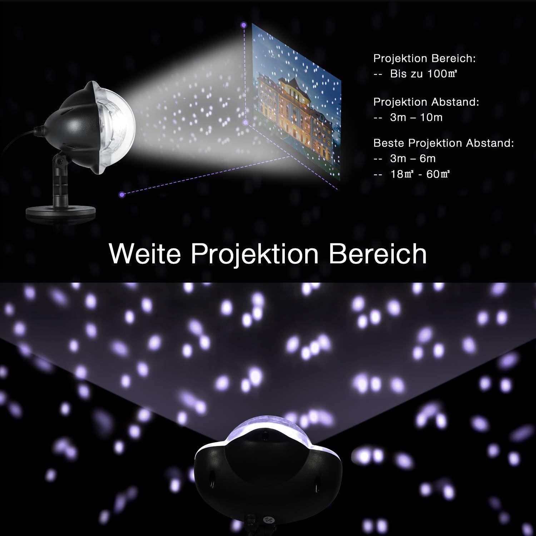 SWNY LED Projektions Lampe Weihnachten Schnee Wasserdicht für ...