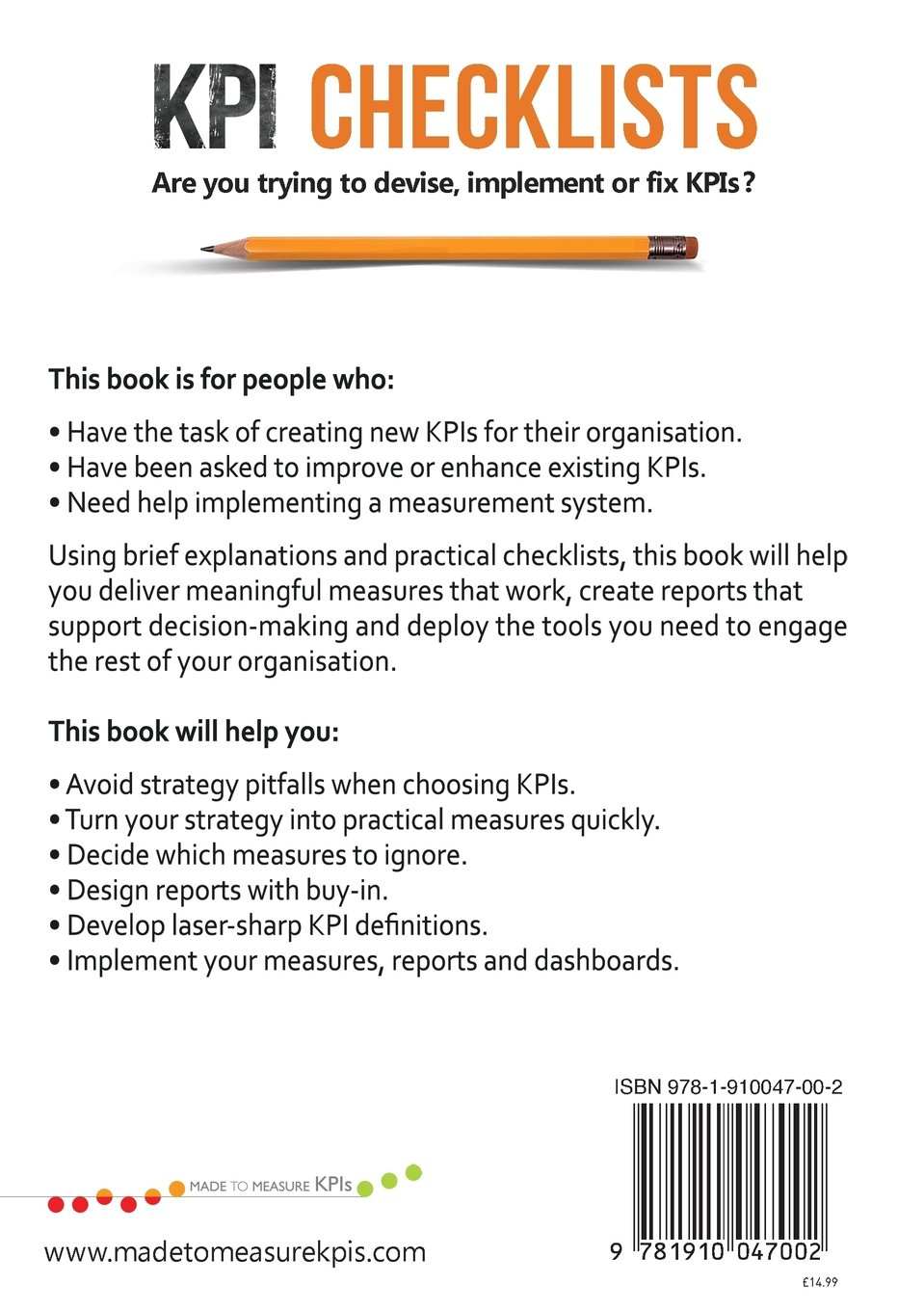 KPI Checklists: Bernie Smith: Amazon.com.mx: Libros