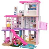 Barbie Dreamhouse (3.75-ft) 3-Story Dollhouse Playset with Pool & Slide, Party Room, Elevator, Puppy Play Area, Customizable