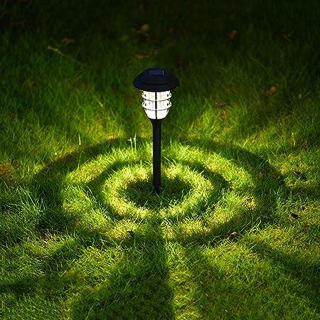 XLOO Luces LED de jardín con energía Solar, Luces solares al Aire Libre, Luces de vía Solar Luces de Paisaje, iluminación de Paisaje con energía Solar para Patio Pasarela de césped: Amazon.es: