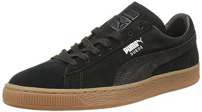 Puma Unisex-Erwachsene Suede Classic Natural Warmth Sneaker, Schwarz (Black-Black), 44.5 EU