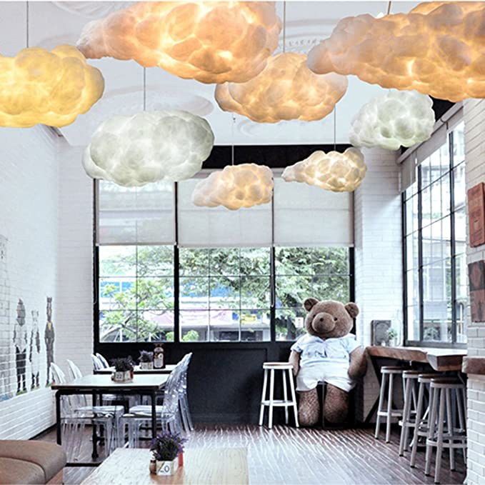 SX-CHENG $Lámpara Nórdico Cloud Chandelier Creative Personality Hotel Restaurante Iluminación Art Living Room Lámparas LED (Tamaño : 50cm, ...