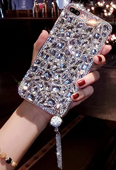 finest selection eeb23 148b4 Samsung Galaxy S9 Plus Diamond Case,Galaxy S9 Plus Rhinestone Case,Handmade  Luxury Bling Glitter Sparkle Gemstone Crystal Rhinestone Phone Case ...