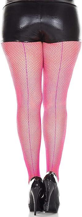 fa7ebb7514 Amazon.com  Music Legs Plus size backseam fishnet pantyhose  Clothing
