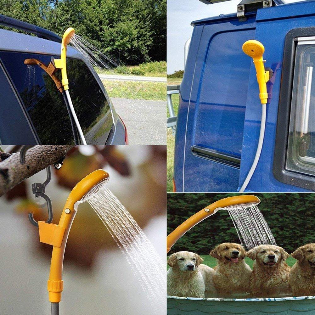 Fairylove Douche Camping Portable 12V Multifonctions avec Tuyau de 200CM pour Camping//Voyage//Nettoyage de Voiture//Nettoyage d/'Animaux//Arrosage de Jardin
