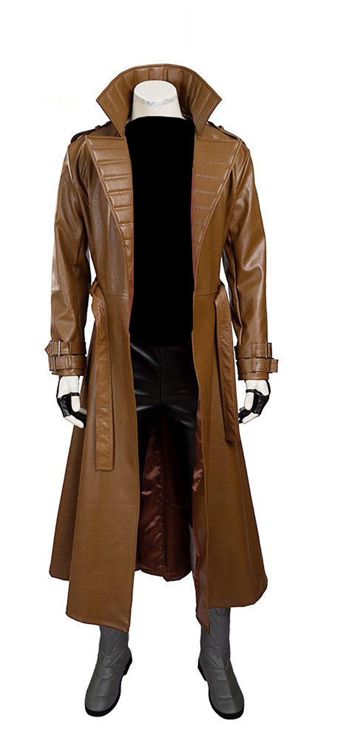 Gambit Channing Tatum Leather Brown Trench Coat | gambit coat