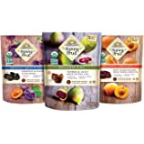 ORGANIC Dried Fruit Assortment - Sunny Fruit Prunes, Figs & Apricots (3 Bags) - (5) 1.76oz Portion Packs per Bag - NO Added S
