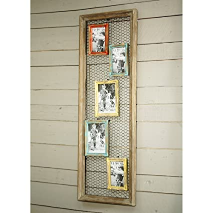 Amazon.com - VIP International Wood Picture Frame with Chicken Wire ...